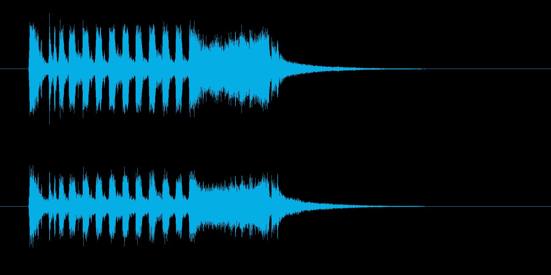 明るく勢いのある管楽器ファンファーレの再生済みの波形