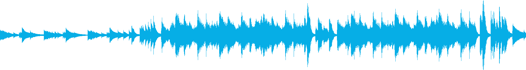 ミステリアスな鉄琴とストリングス ループの再生済みの波形