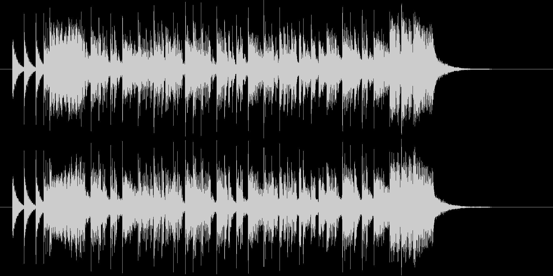 疾走感のあるアップテンポのポップ曲の未再生の波形