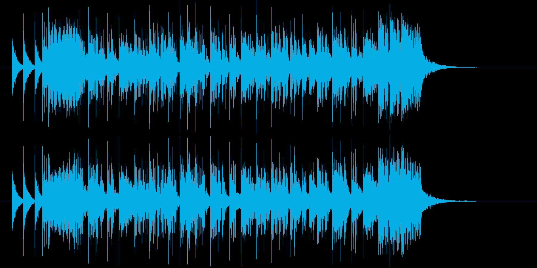 疾走感のあるアップテンポのポップ曲の再生済みの波形