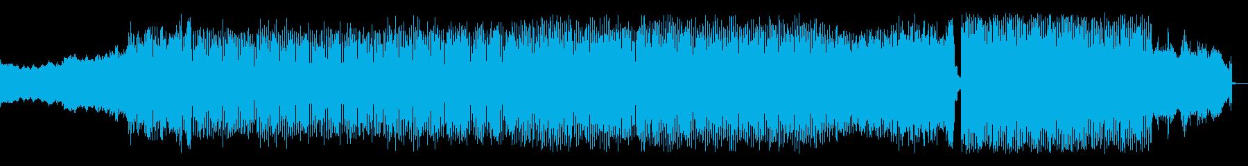 爽やかで軽快な4つ打ちポップスの再生済みの波形