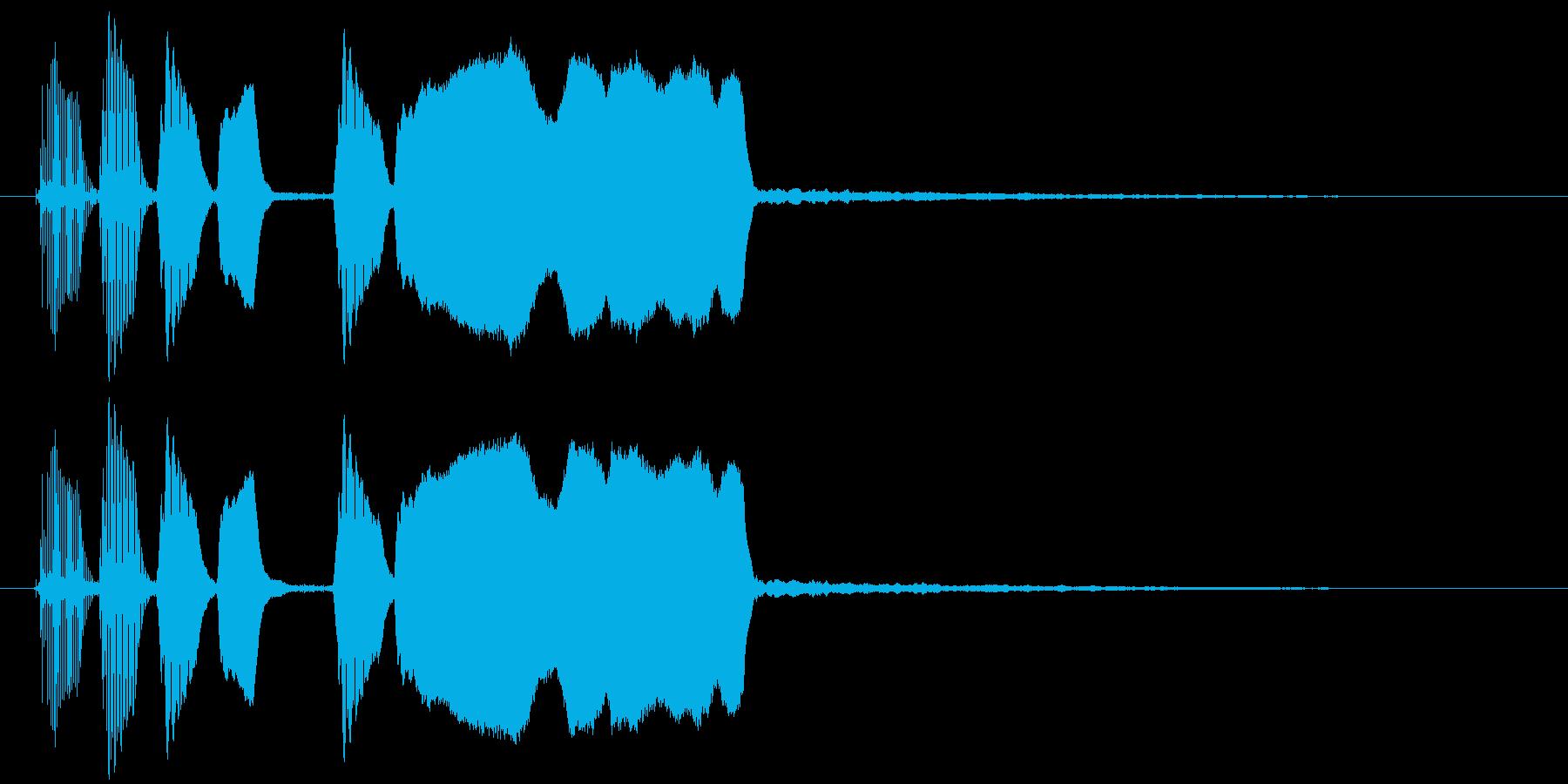 ラッパのファンファーレ タラララッタラーの再生済みの波形