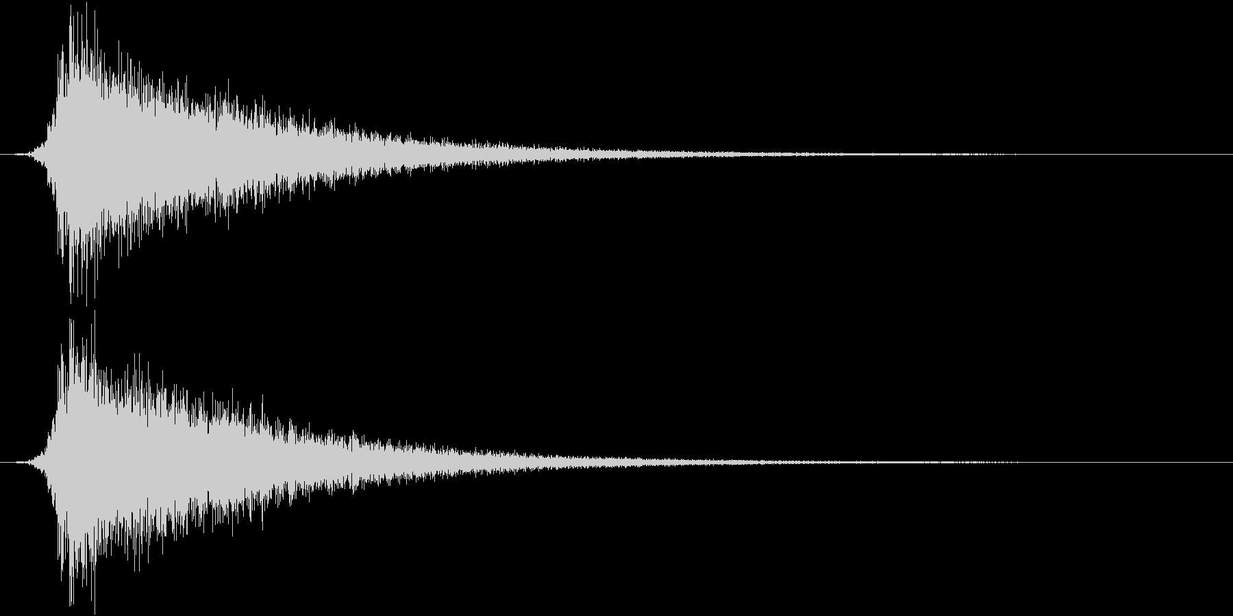 カットイン/シュパーン/ロゴ/開始の未再生の波形