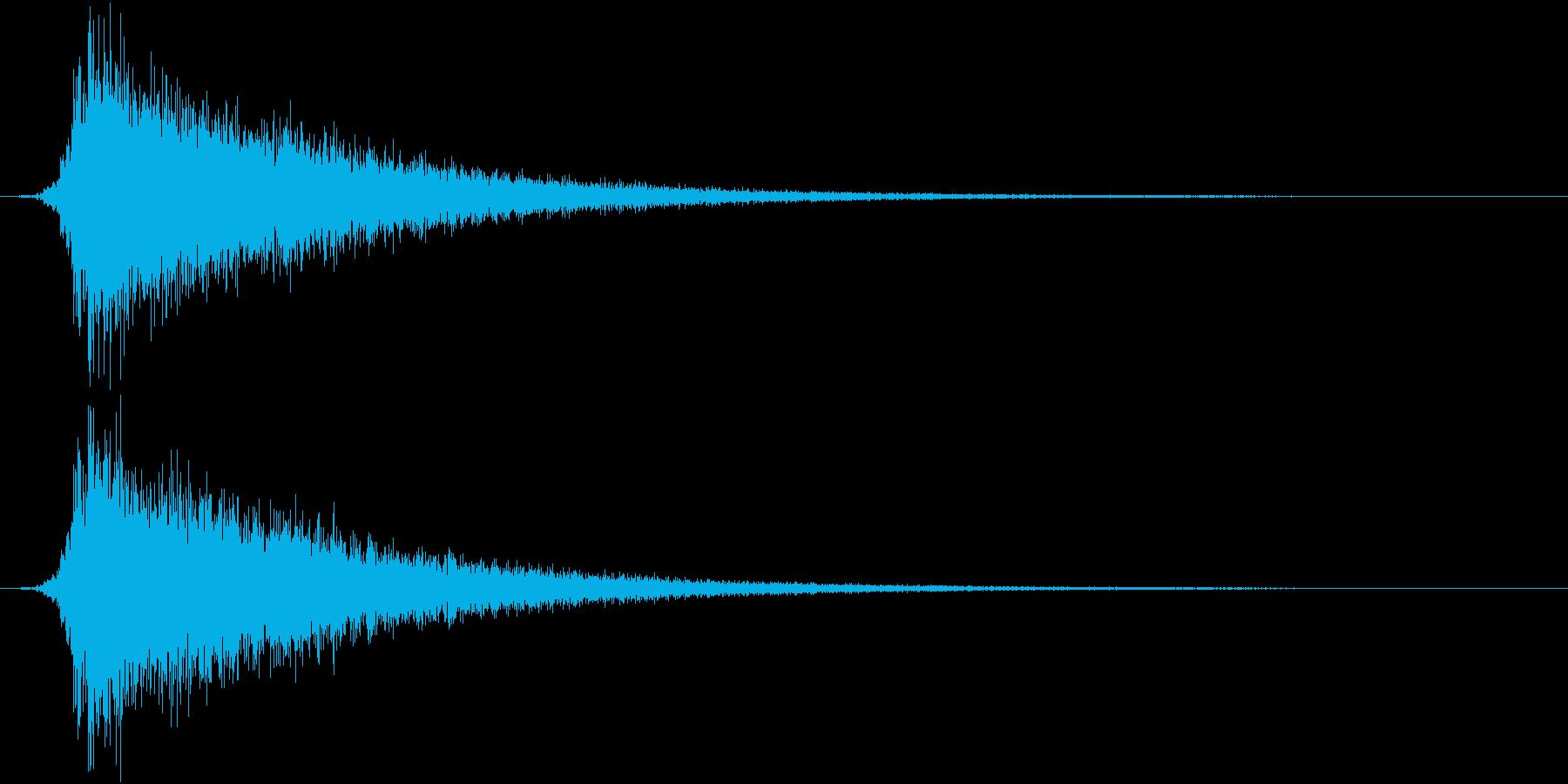 カットイン/シュパーン/ロゴ/開始の再生済みの波形
