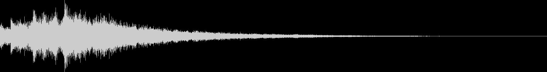 余韻長めのキラキラ音です。開始音などにの未再生の波形