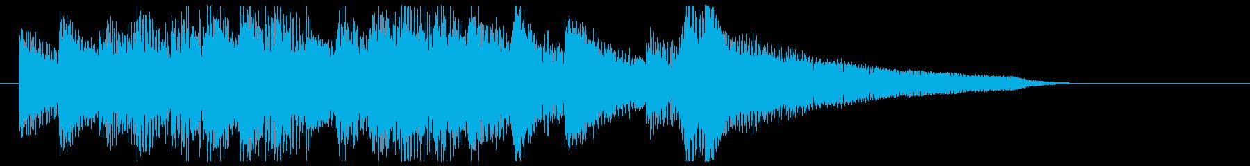上品・なめらかなピアノジングルの再生済みの波形