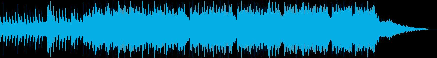 ホラー/怪談/不安と陰鬱なピアノ曲の再生済みの波形