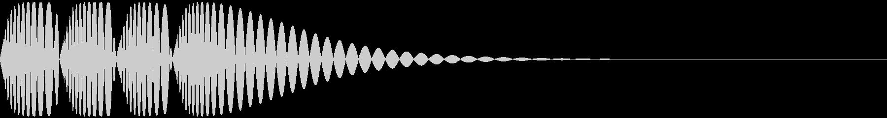 ドドドの未再生の波形