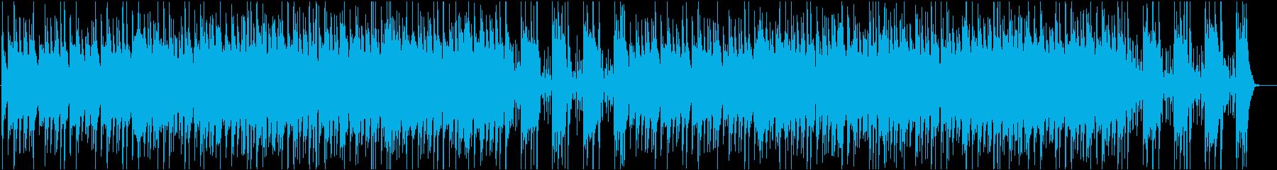 シンセベースが印象的な怪しい曲の再生済みの波形