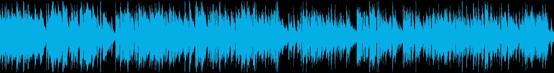 シリアスなジャズ、サックス ※ループ版の再生済みの波形