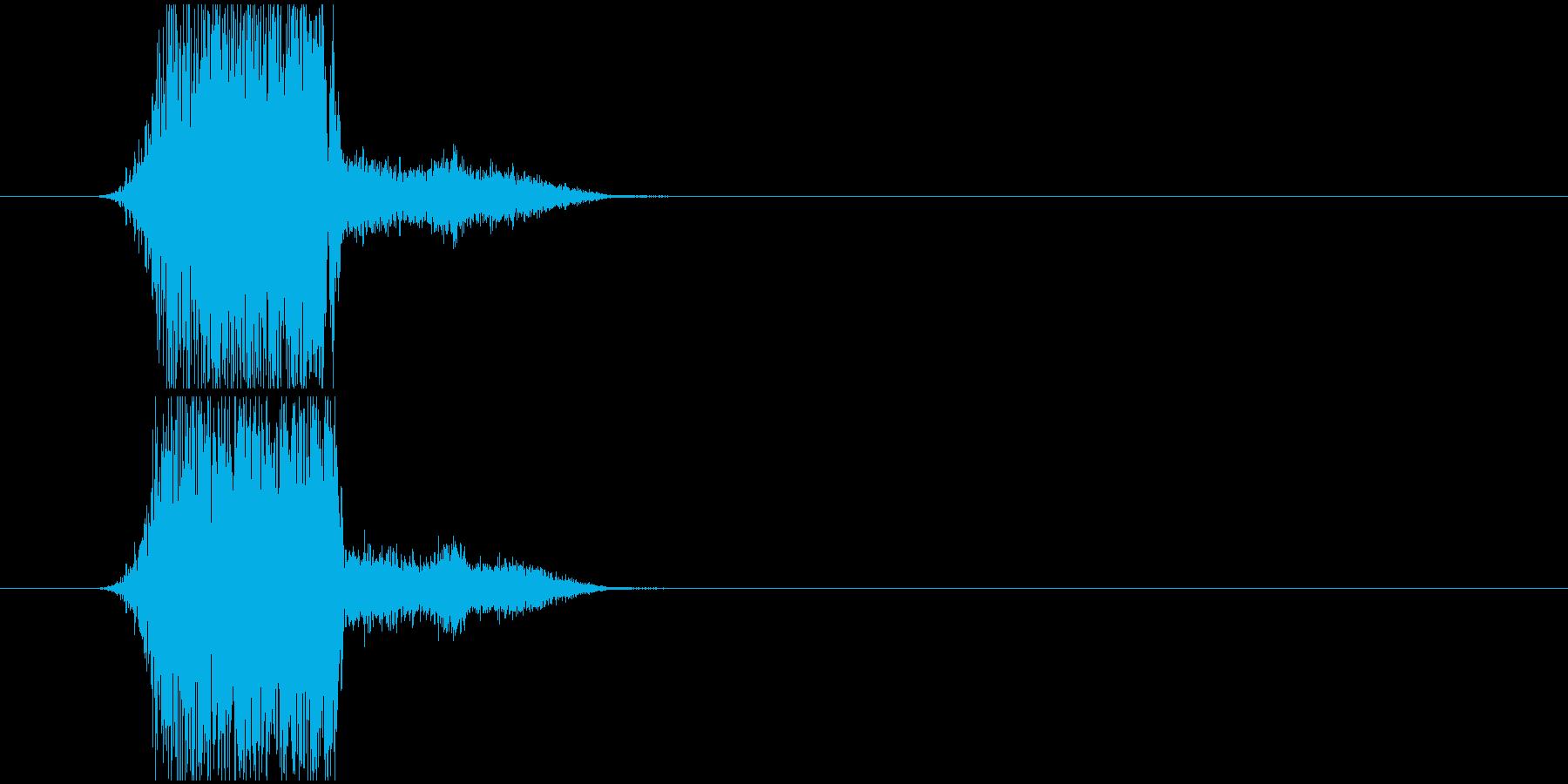 かわいい投げる音の再生済みの波形