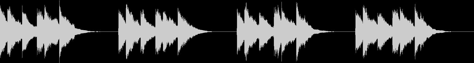 シンプル ベル 着信音 チャイム A20の未再生の波形