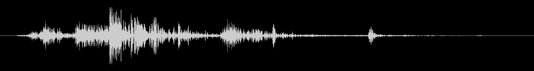 ヘビーボディフォールオンウッドの未再生の波形