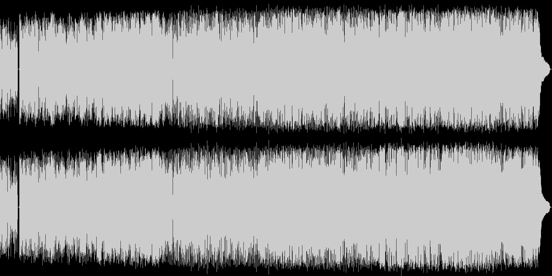 優しくゆっくりと奏でるバラード・ロックの未再生の波形
