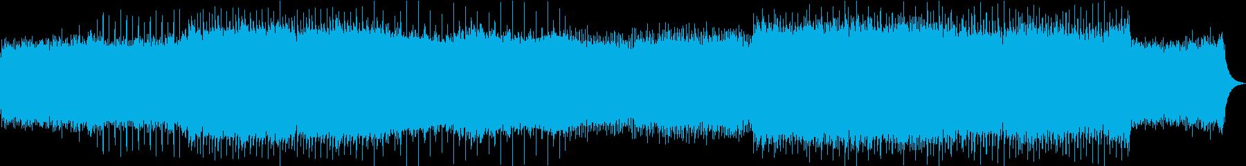 キラキラとして幻想的なポップスの再生済みの波形