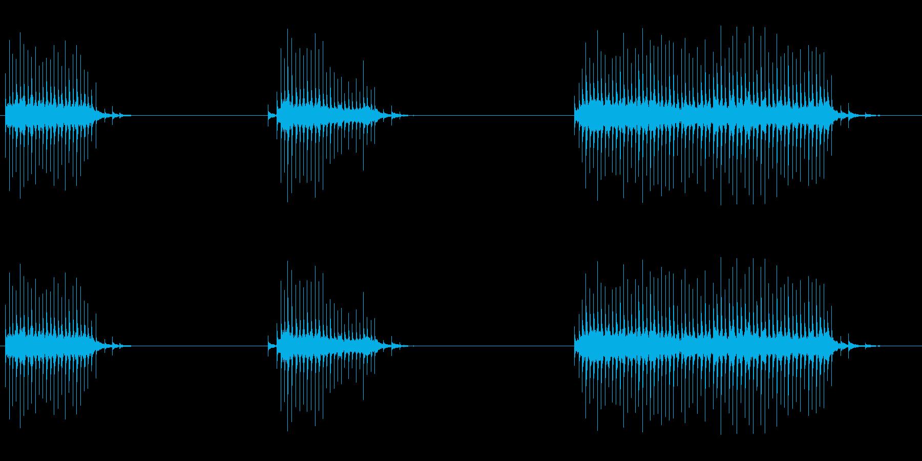 フレキシトーン:ラピッドワーリング...の再生済みの波形