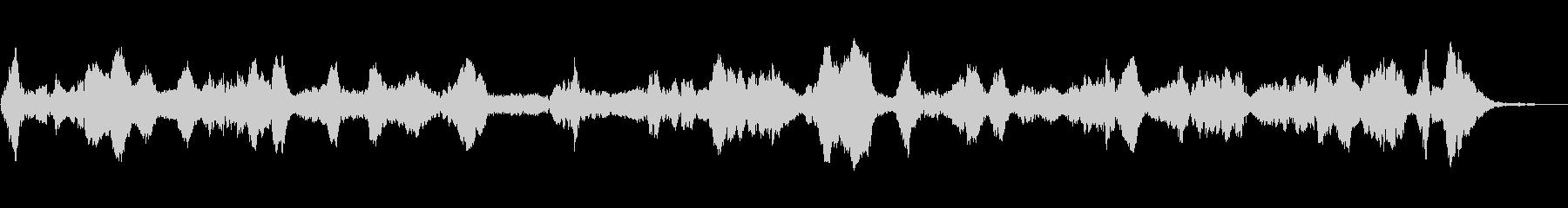 短波電波干渉掃引。静的、バズラジオ...の未再生の波形