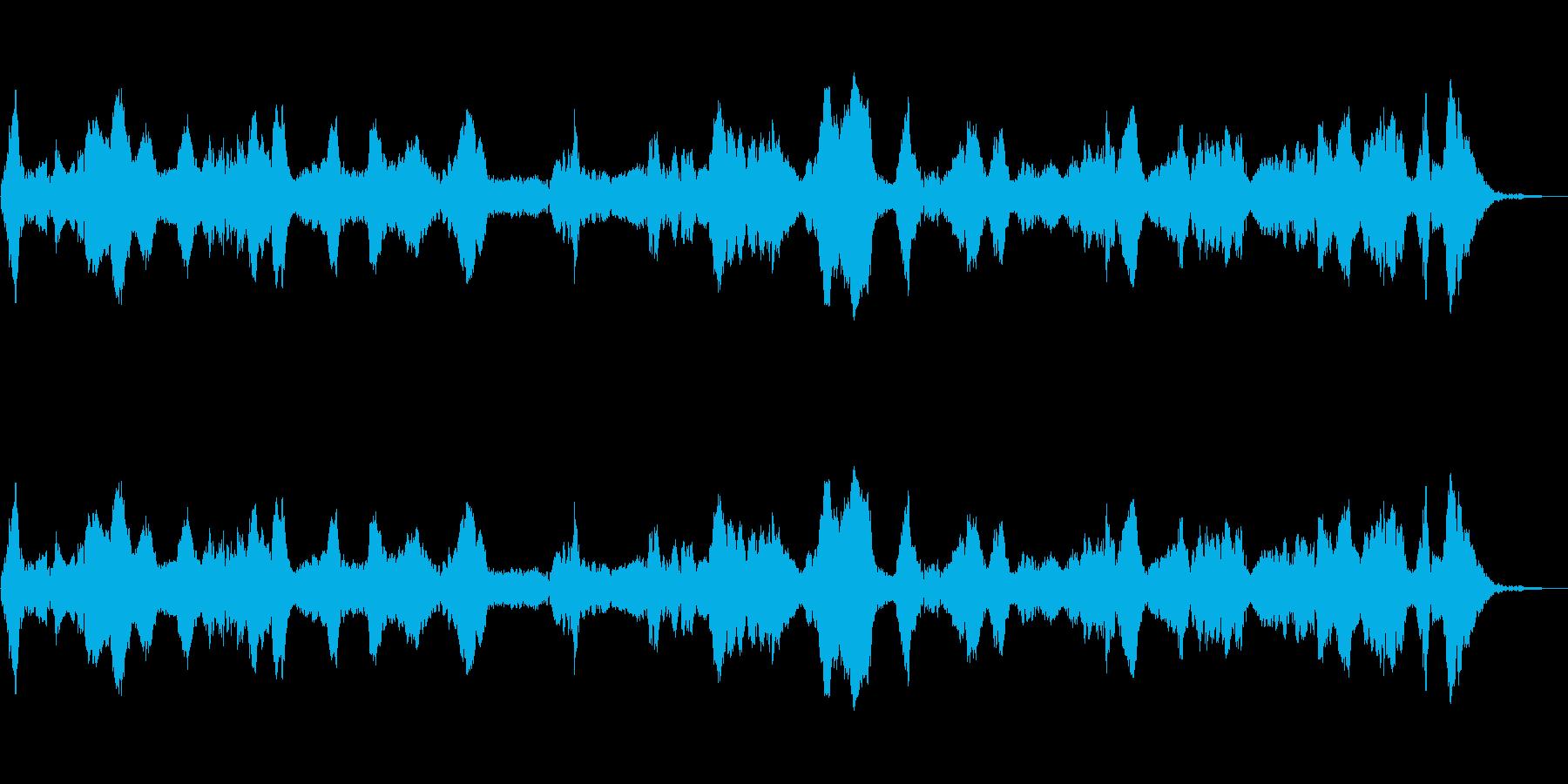 短波電波干渉掃引。静的、バズラジオ...の再生済みの波形