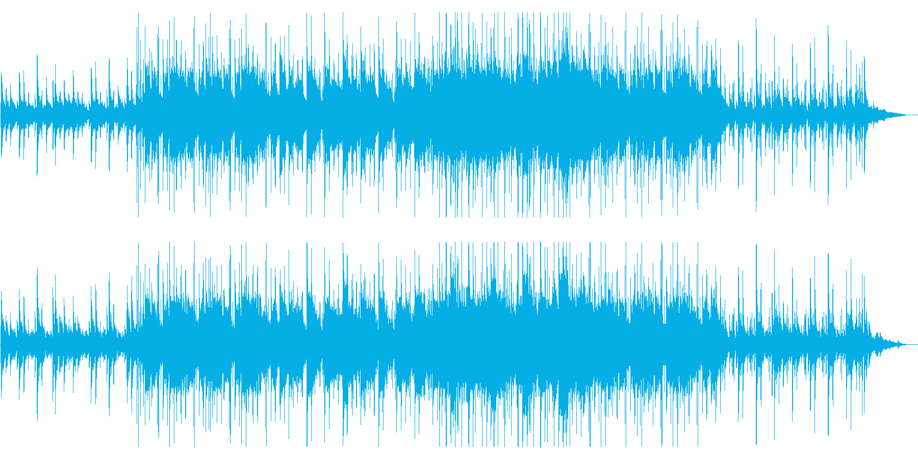 切ないピアノ アコギとブレイクビーツの再生済みの波形