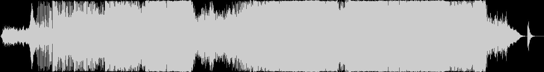 エレクトリックなサウンドのトランスの未再生の波形