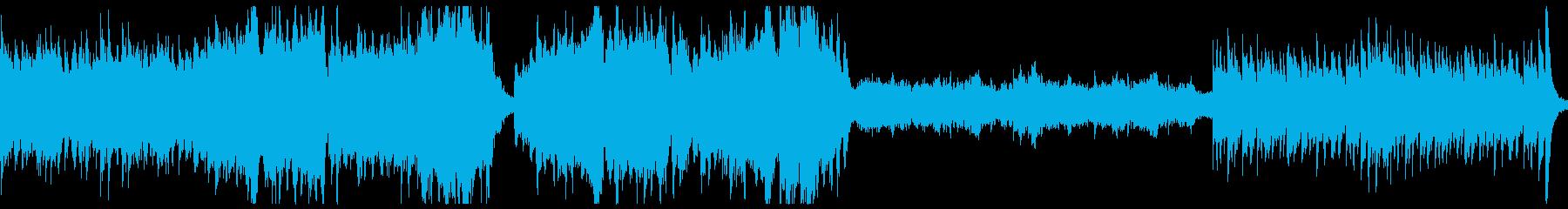 ストリングスと木管のホラー曲。3拍子の再生済みの波形