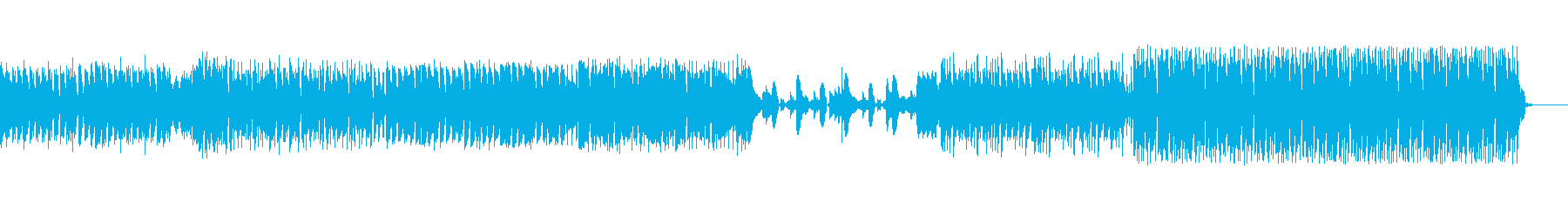 疾走感あるポップスの再生済みの波形