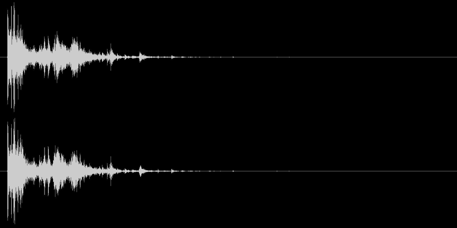 画像フレームのクラッシュの未再生の波形