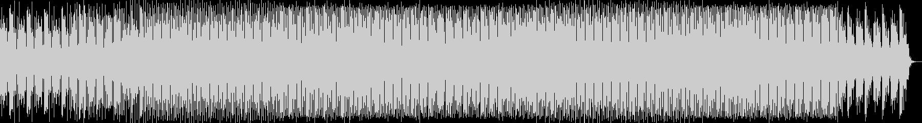 先鋭的な4つ打ちのテクノ音の未再生の波形