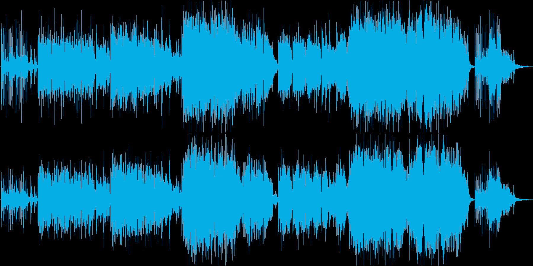 懐かしさ漂うほのぼのとした感動的和風曲の再生済みの波形