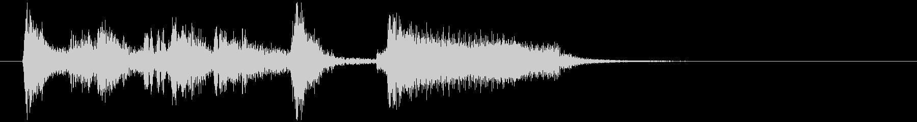 場面転換などにジャズジングル(2)の未再生の波形