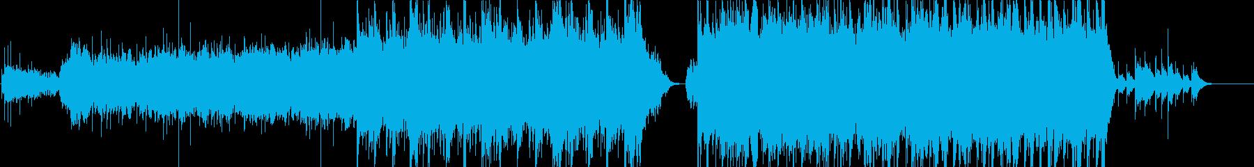 和楽器を使用した壮大な楽曲の再生済みの波形
