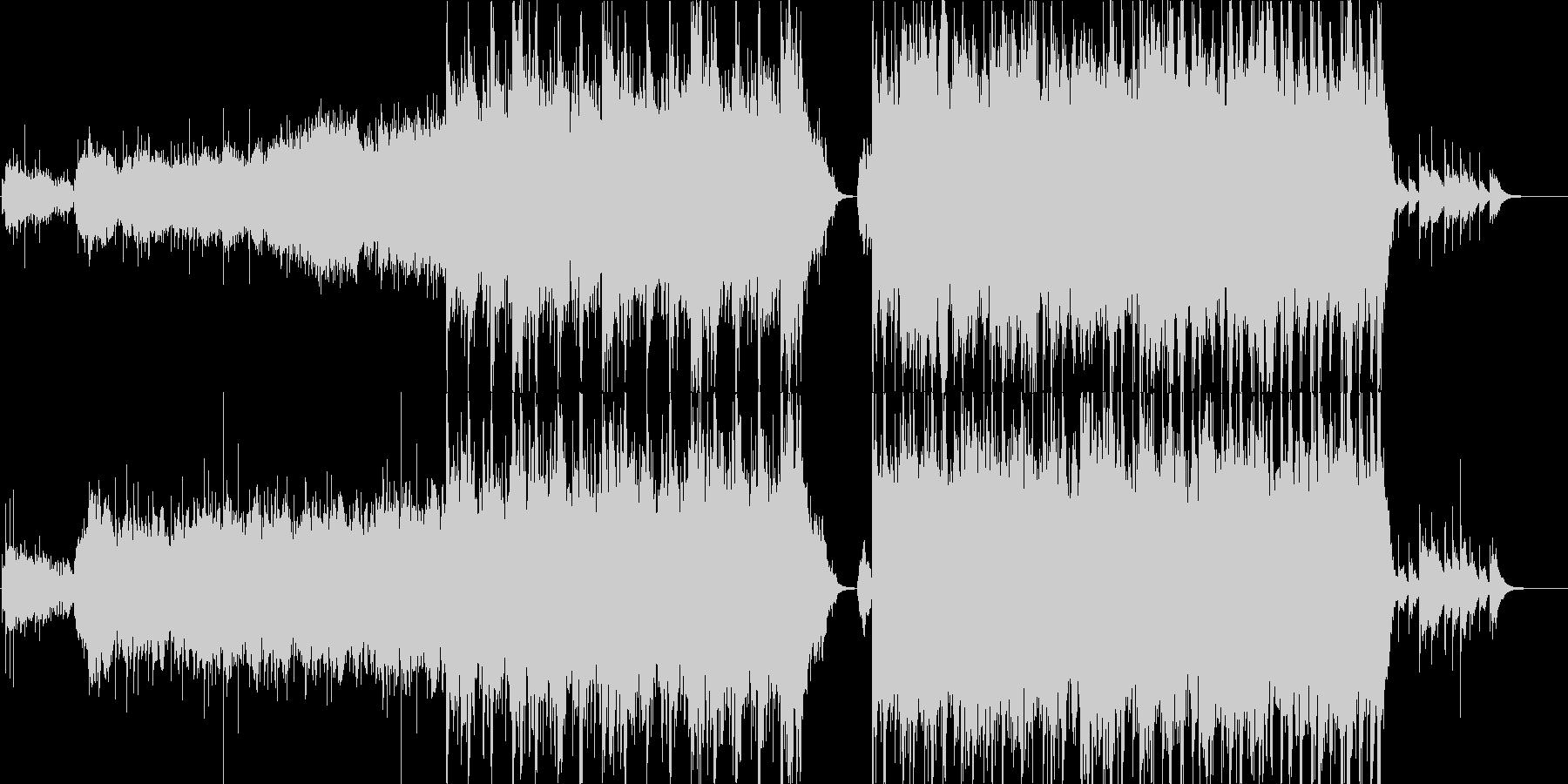 和楽器を使用した壮大な楽曲の未再生の波形