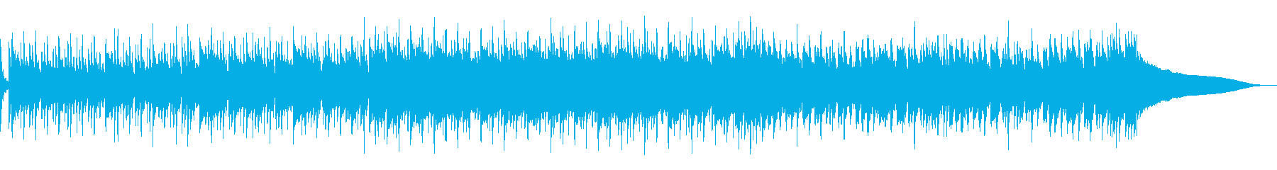 楽しい夏のオープニング映像に沖縄風ポップの再生済みの波形