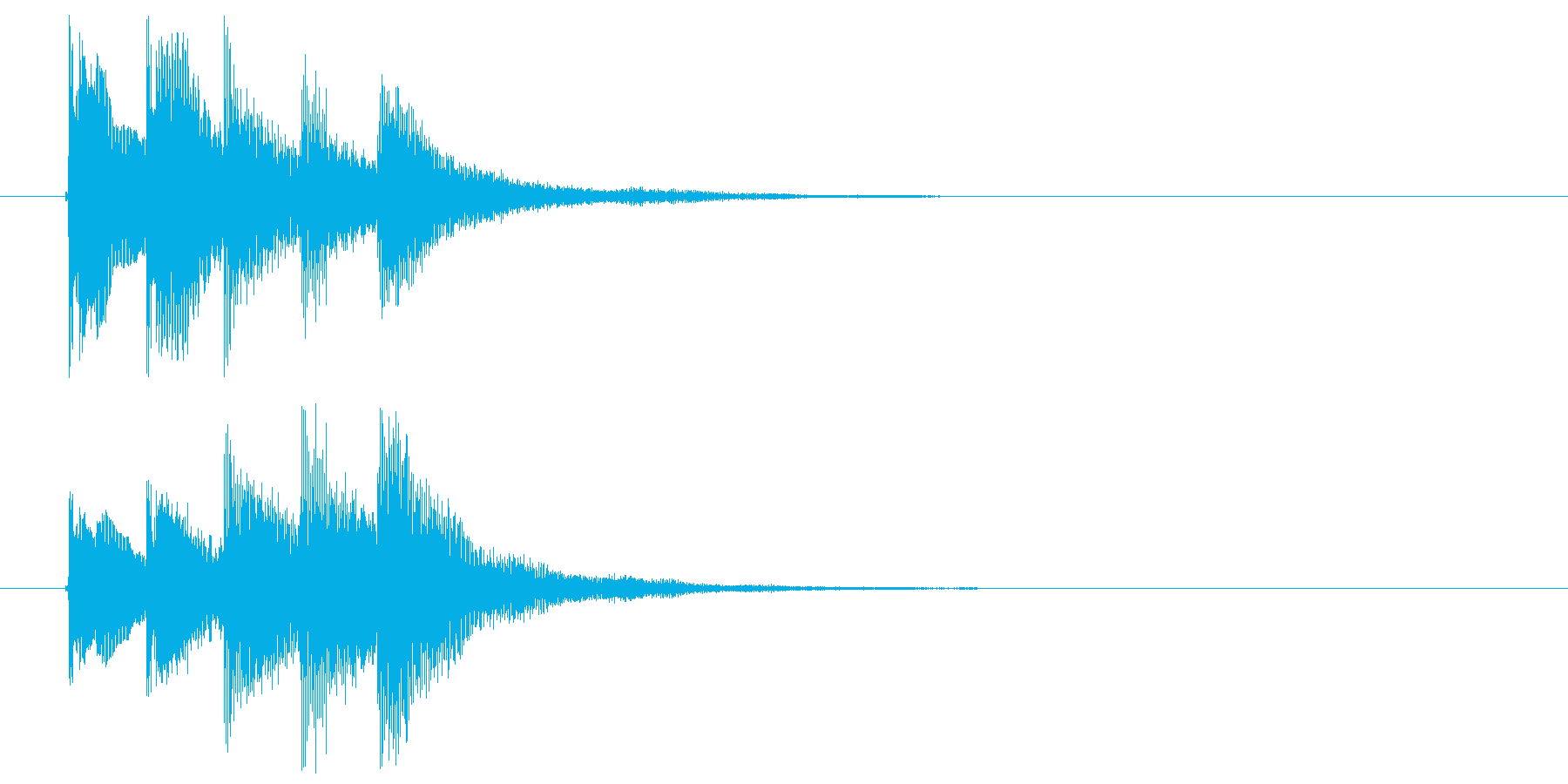 邦楽_ワイプ用_琴の再生済みの波形