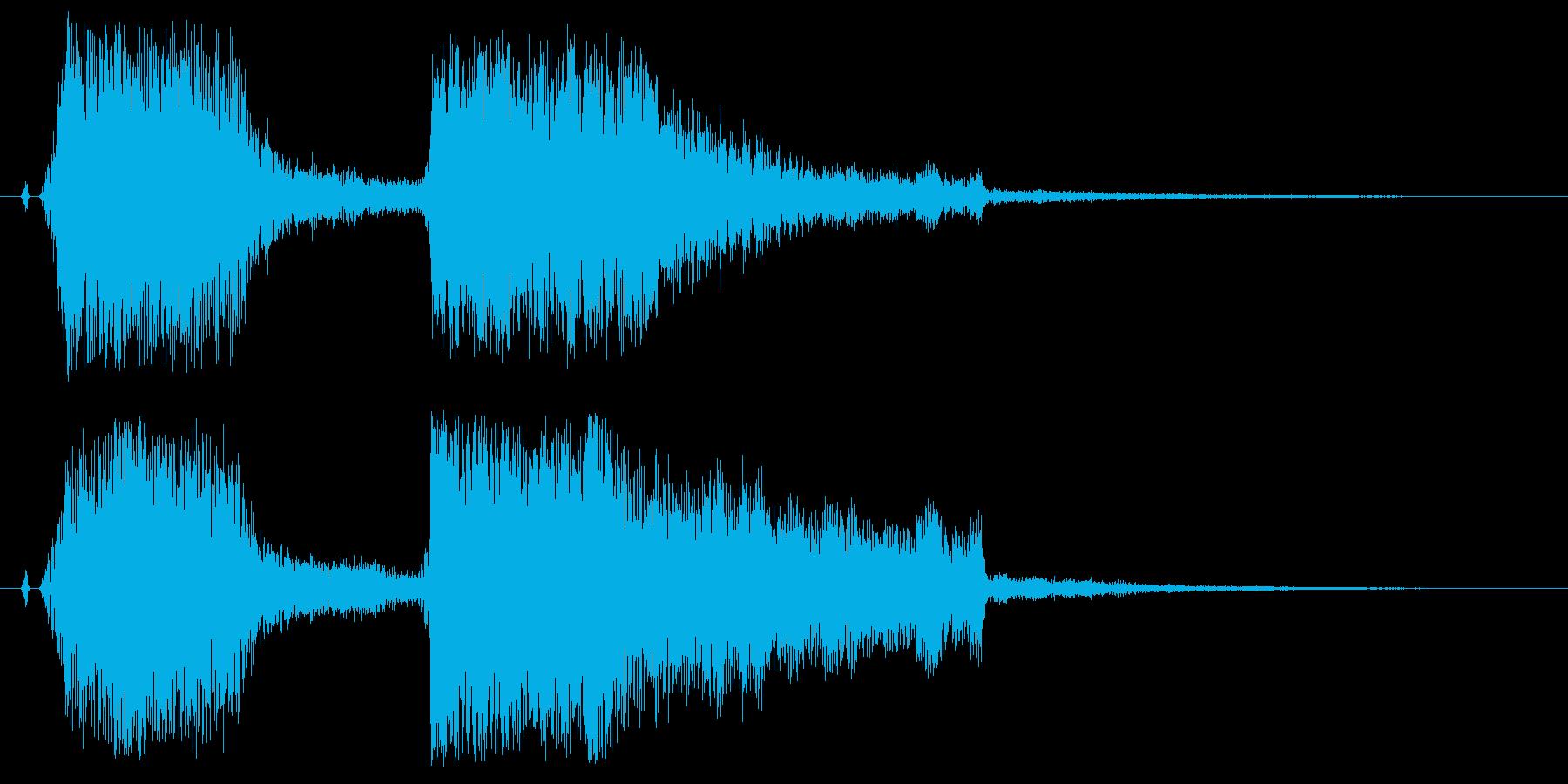 チャンチャン♪お笑いのオチ 効果音02!の再生済みの波形