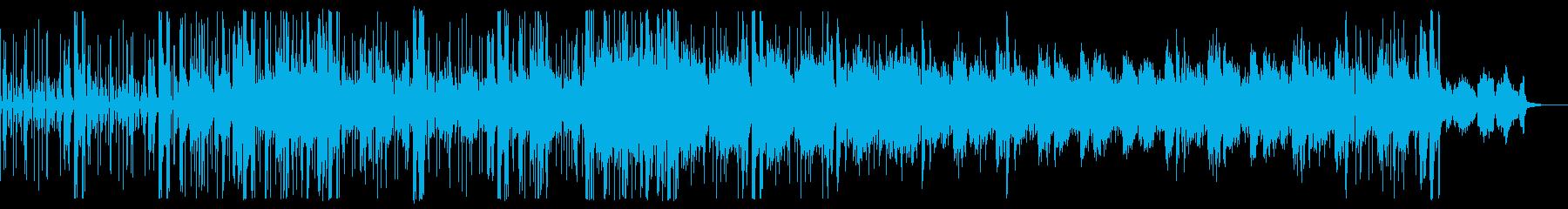 エレクトロニカ ピアノ 悲壮的な雰囲気の再生済みの波形