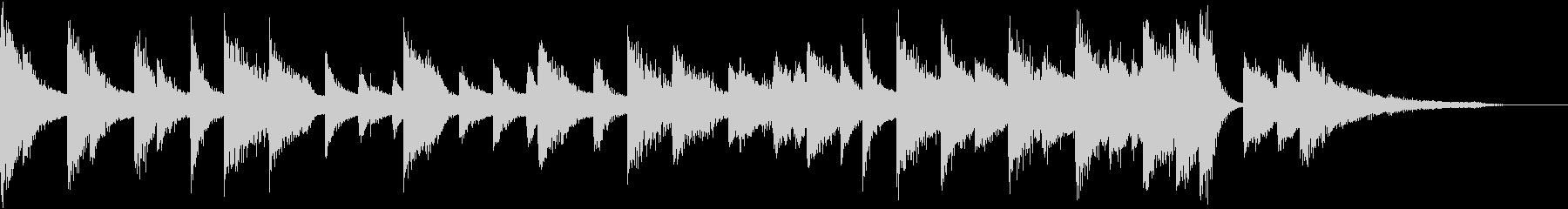 童謡・月モチーフのピアノジングルBの未再生の波形