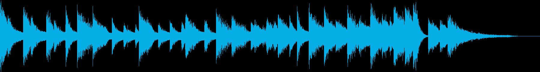 童謡・月モチーフのピアノジングルBの再生済みの波形