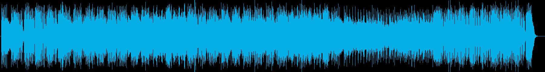 激しく勢いのあるロックの再生済みの波形