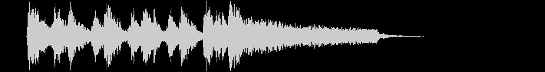 ミステリアスでドラマティックな楽曲の未再生の波形