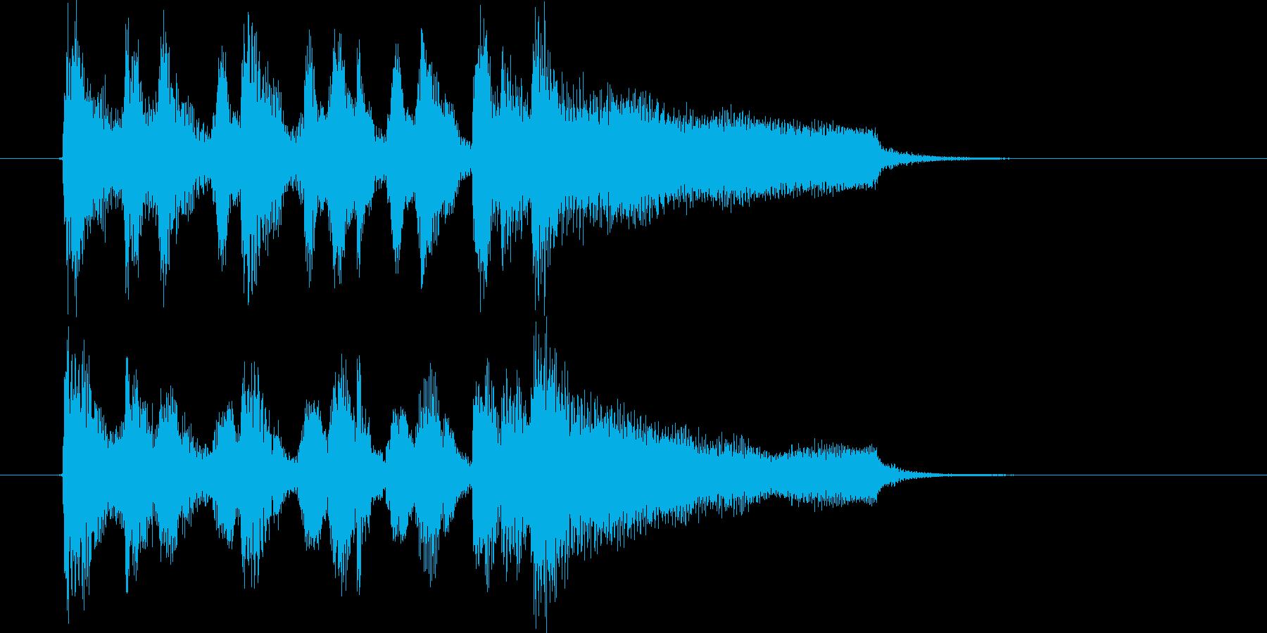 ミステリアスでドラマティックな楽曲の再生済みの波形