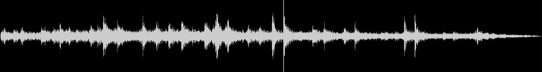 電車発車(車外で録音)の未再生の波形