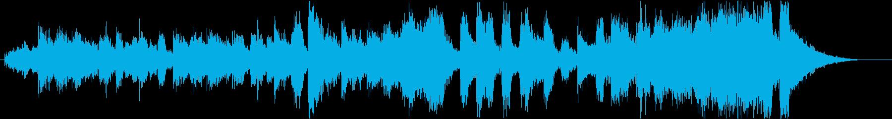 ブラスの効いたバンド形式のジングルの再生済みの波形