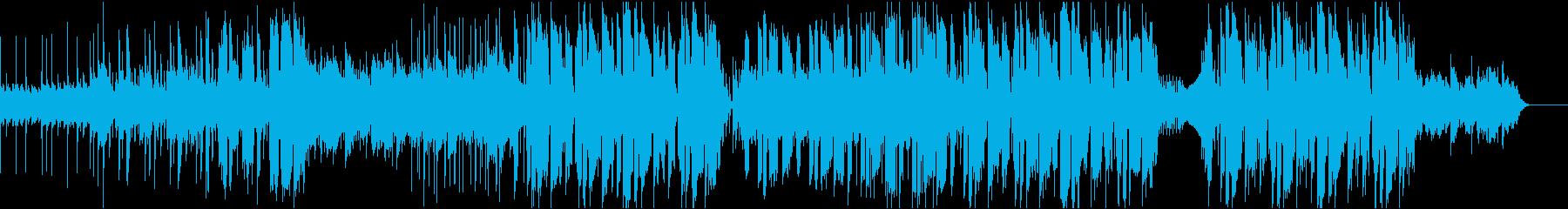 ピアノメロディが印象的なダンス曲の再生済みの波形