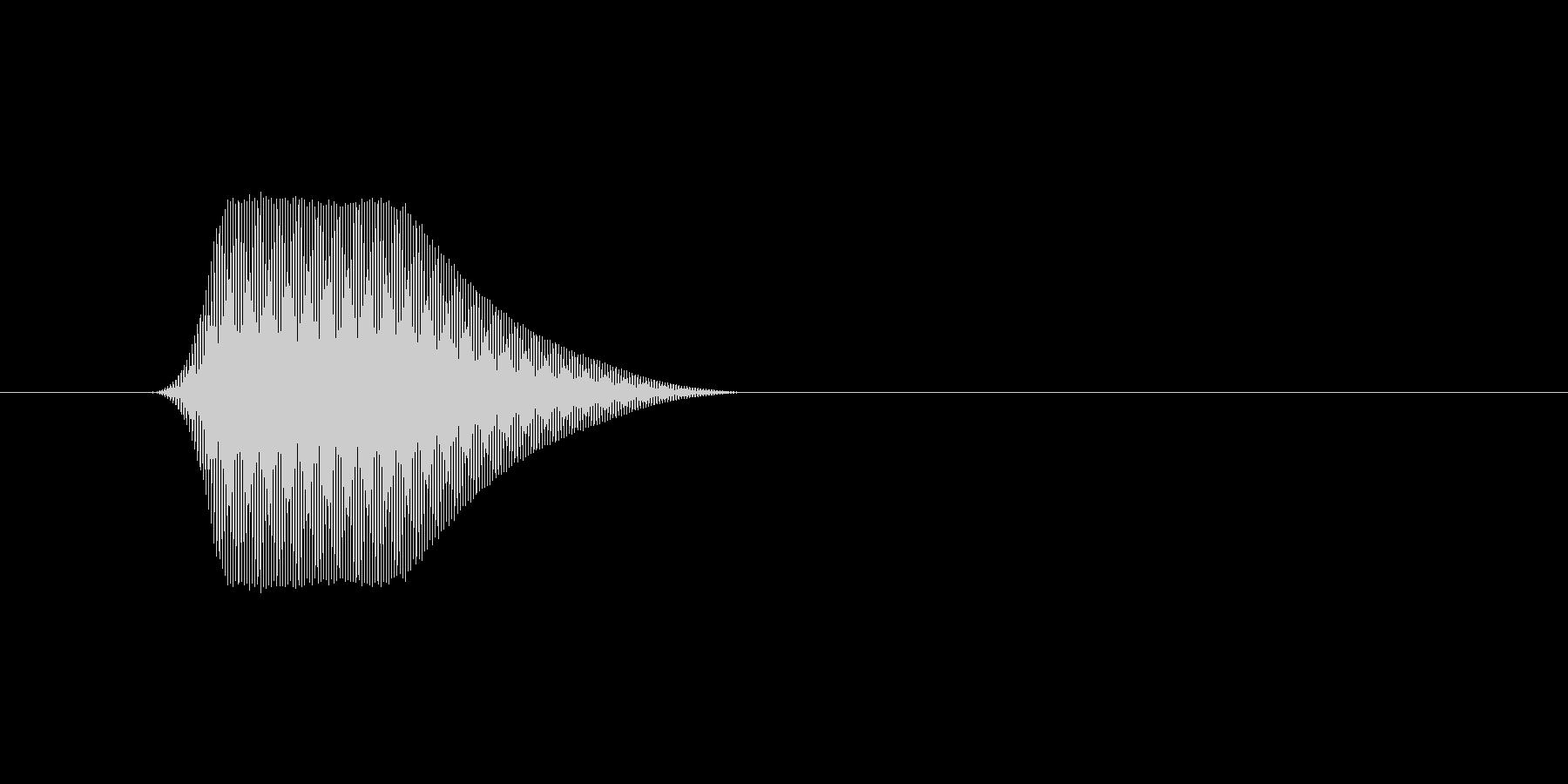 ファミコン風効果音カーソル系です 11の未再生の波形