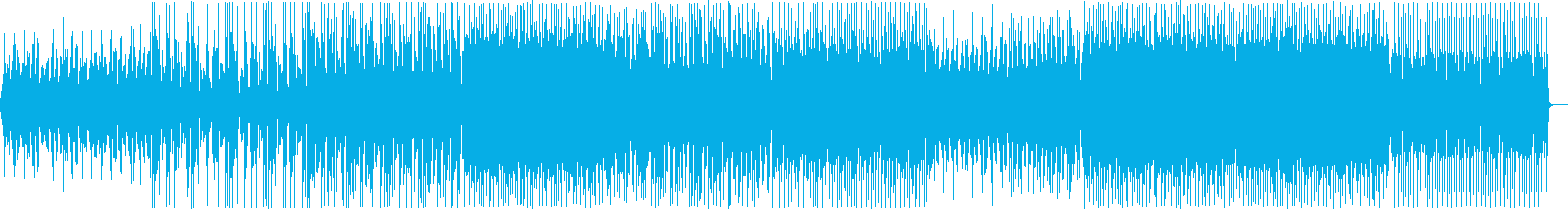 少し切ないEDMの再生済みの波形