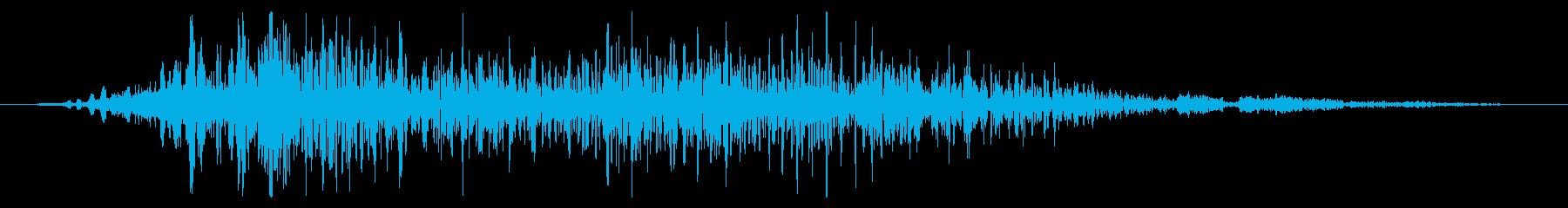 フライング ドラゴン キャラタップ 怒りの再生済みの波形