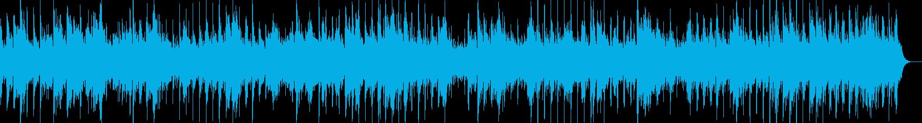 シンプルなアコースティックサウンドの再生済みの波形