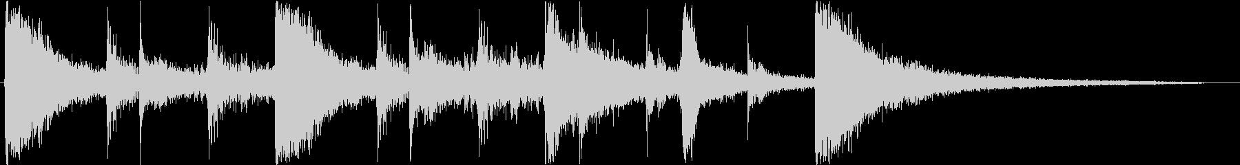 Sound logo, percussion rhythm only's unreproduced waveform