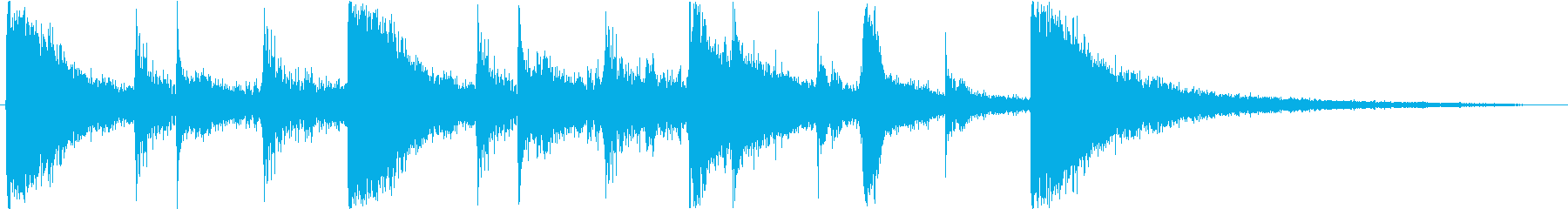 Sound logo, percussion rhythm only's reproduced waveform